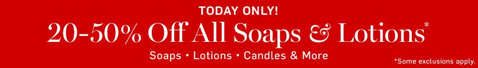 Soaps & Lotion Promo >