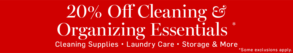 20% Off Cleaning & Organizing Essentials