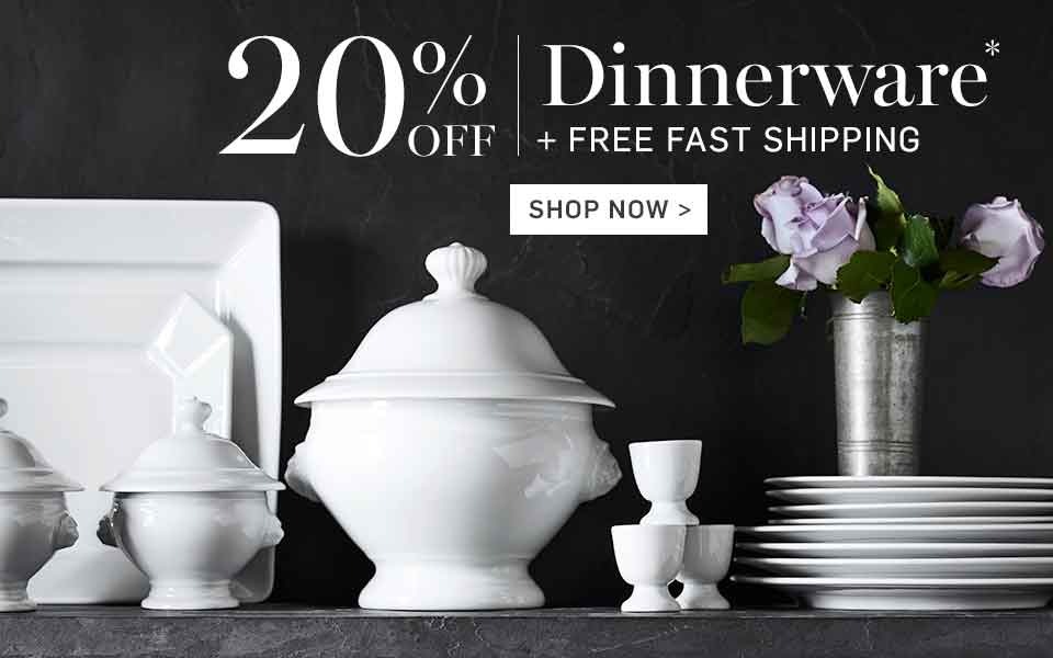 20% Off Dinnerware* + Free Fast Shipping