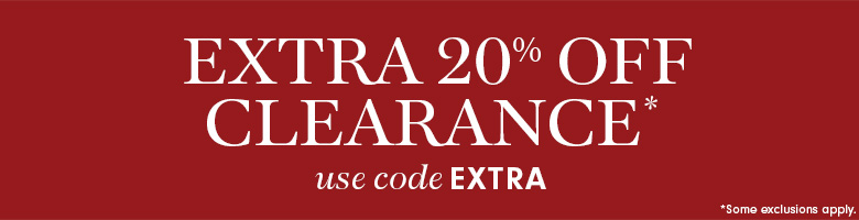 Extra 20% Off Outlet* with code EXTRA