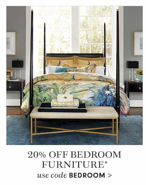 20% off Bedroom Furniture with code BEDROOM