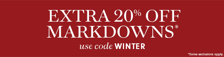 Extra 20% Off Markdowns* with code WINTER