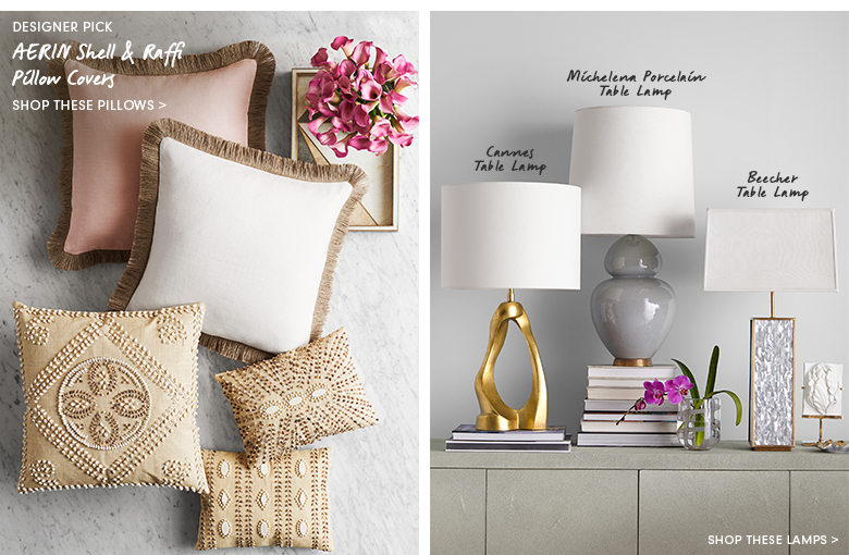 Shop These Pillows & Lamps >