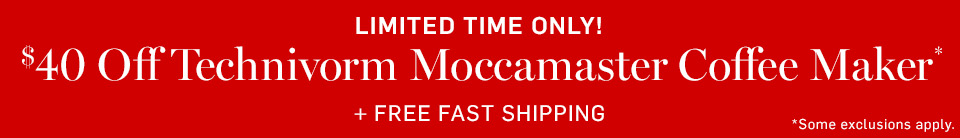 Limited Time Only! $40 Off Technivorm Moccamaster Coffee Maker