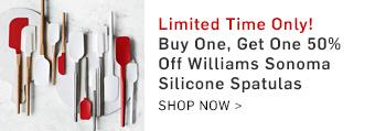 Buy One, Get One 50% Off Williams Sonoma Silicone Spatulas