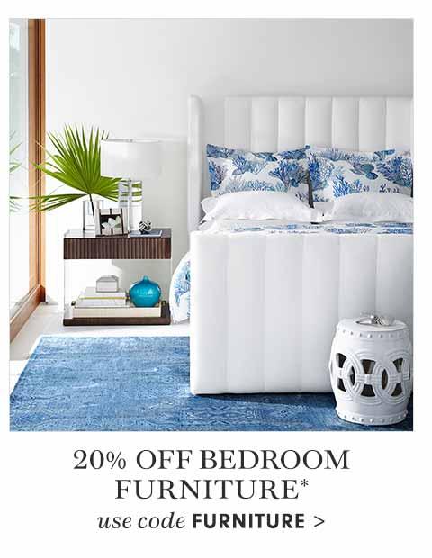 20% Off Bedroom Furniture* Use Code FURNITURE >