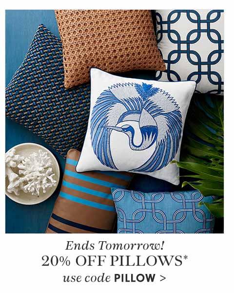 Ends Tomorrow! 20% Off Pillows* Use Code PILLOWS - Shop Now >